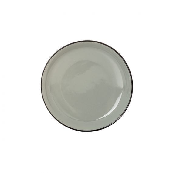 Small grey plate for hospitality.