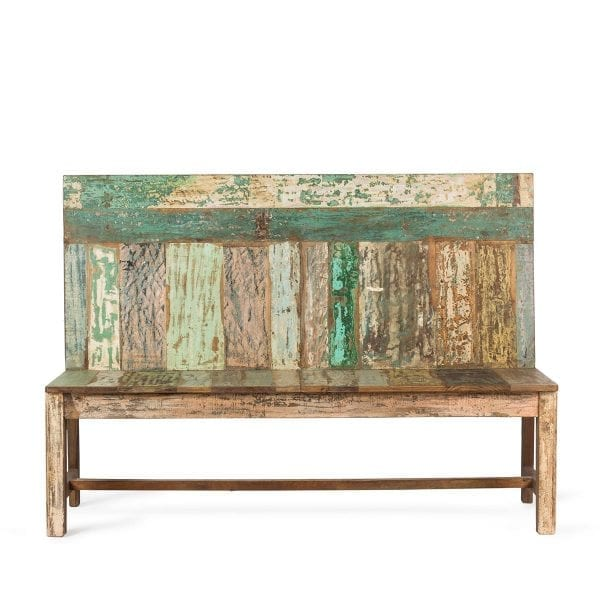 Sustainable wooden bench.