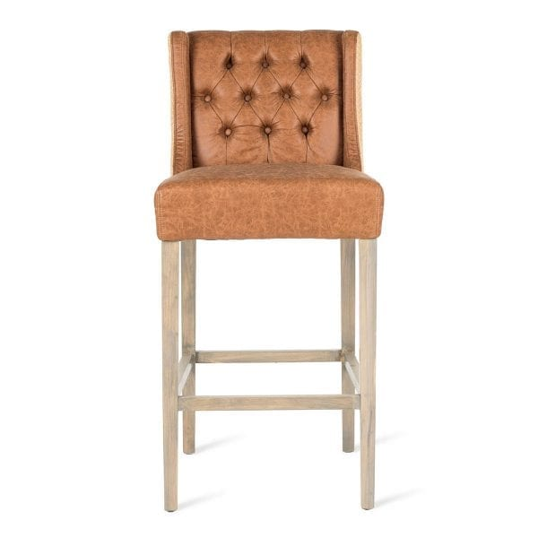 Upholstered high stools.