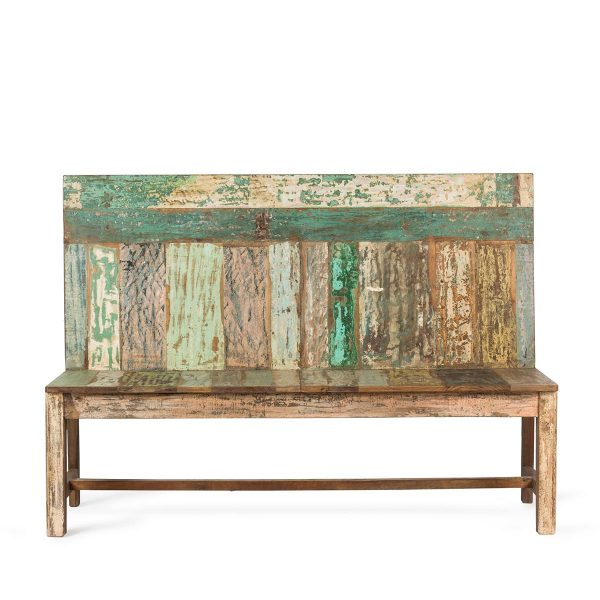 Banc en bois recyclé.