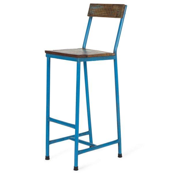 Blue stool Ágora.