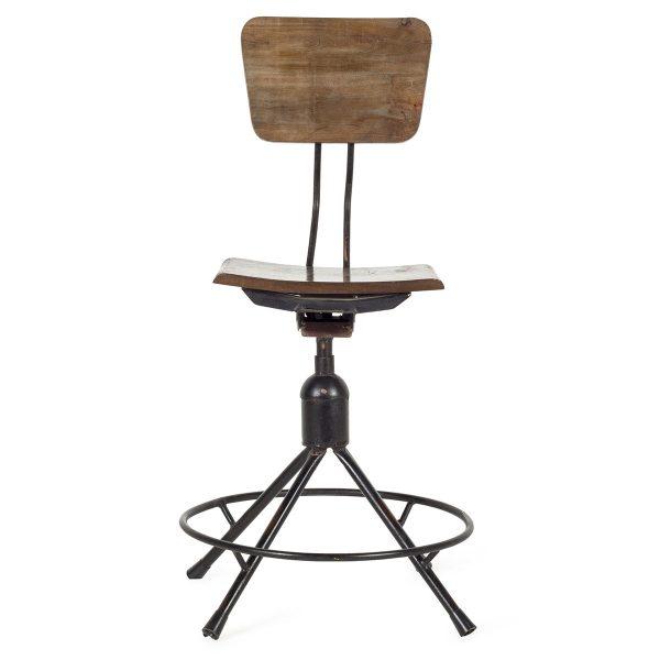 Chaise de bar au design industriel.