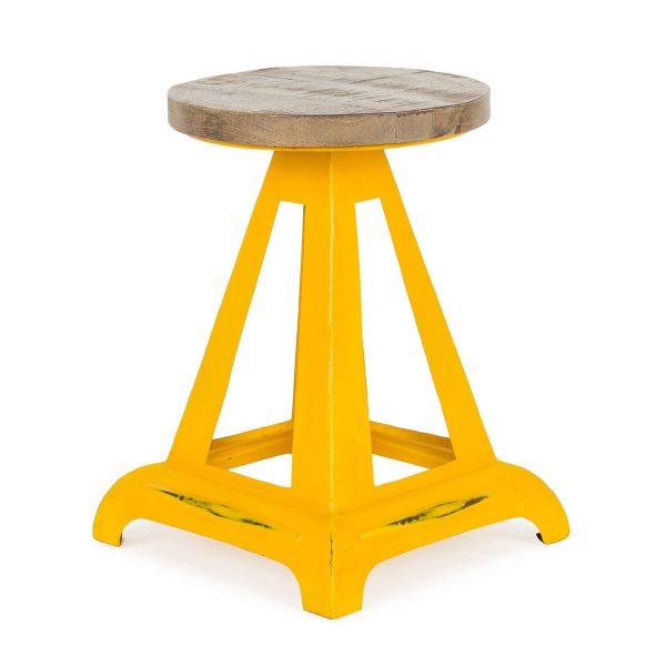 Coloured metal stool Daki.