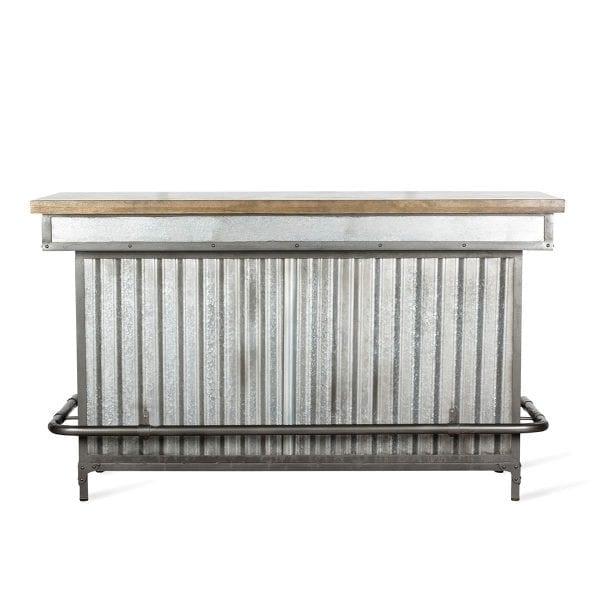 Comptoirs de bar au style industriel.