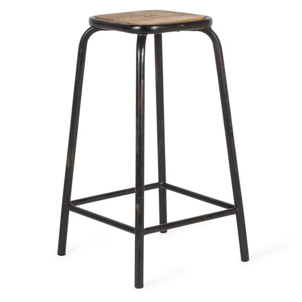 High black bar stools.