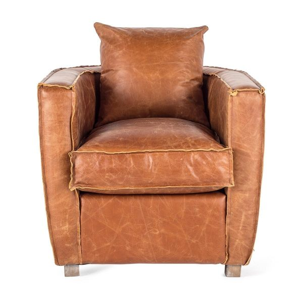 Individual leather armchairs.