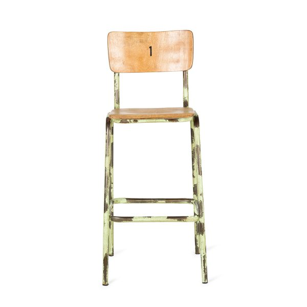 Industrial style stool.