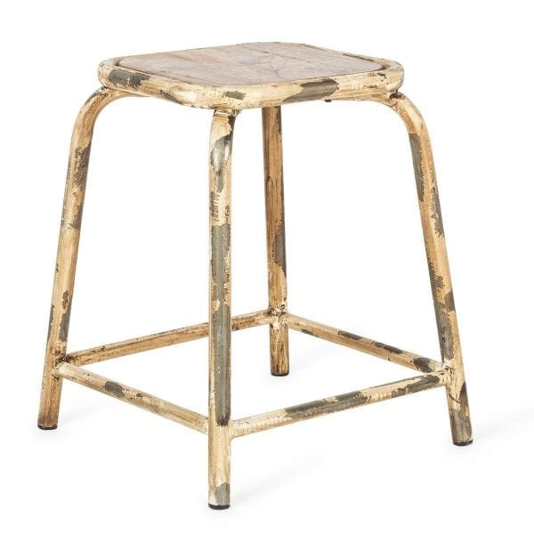 Low cafeteria stools.