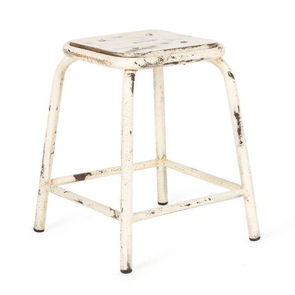 Low metal bar stools.