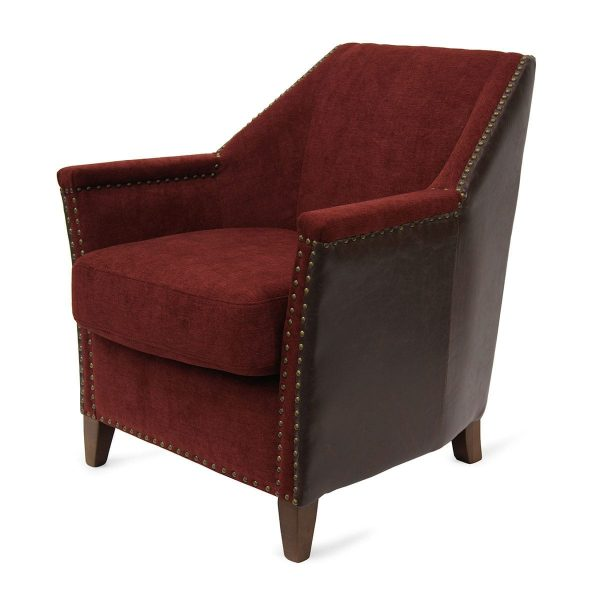 Pictures. Modern vintage armchairs. Jesica model in red.