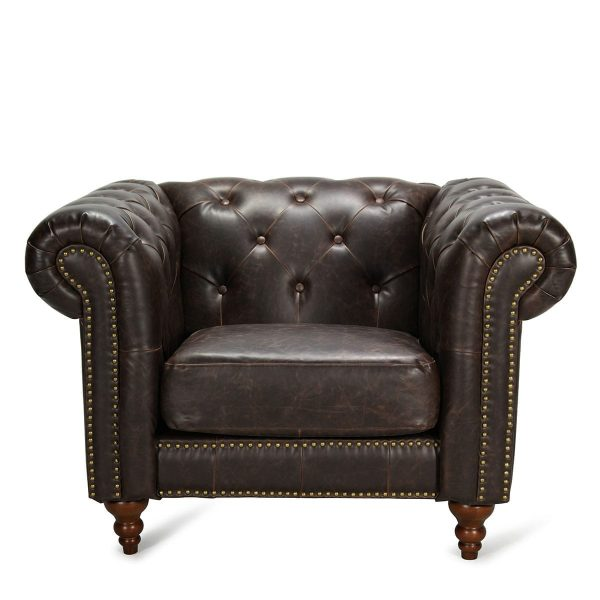 Picture of the leatherete Chester armchairs.