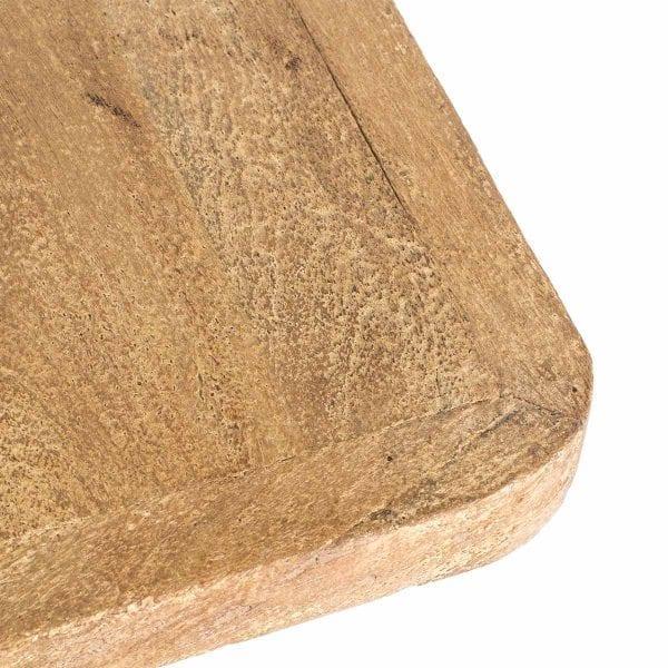 Tables pour cafétéria fabriquées en bois de manguier.