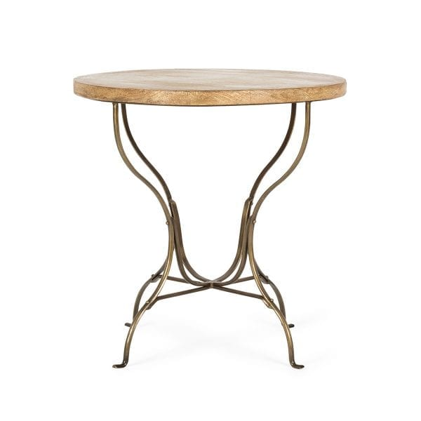 Tables rondes élégantes et robustes pour cafétéria.