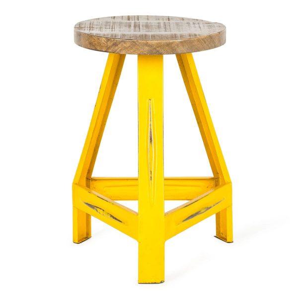 Tabouret jaune modèle Kaa.