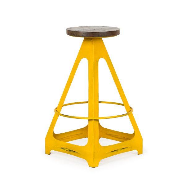 Taburete alto Livorno amarillo.