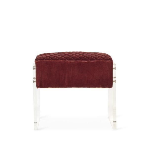 Upholstered footrest.