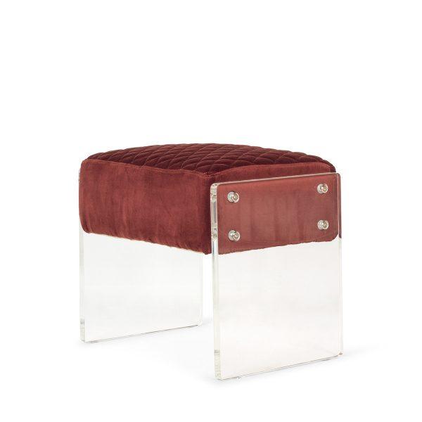 Upholstered stool.