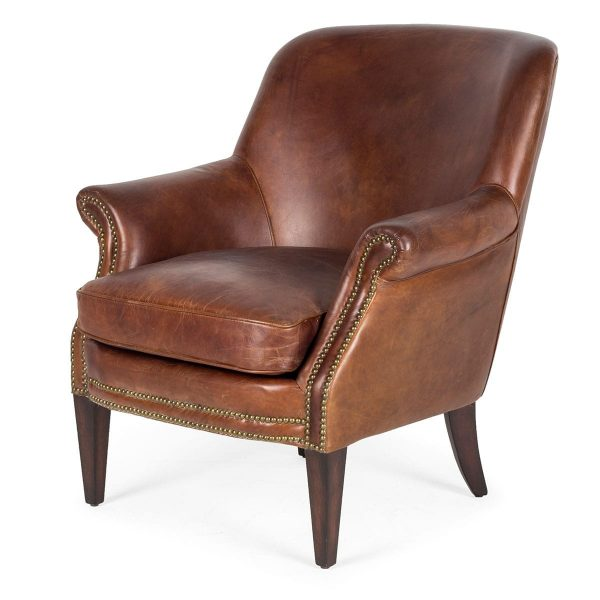 Individual armchair with tall legs to provide decoration.