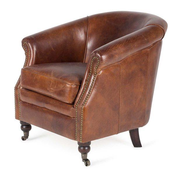 Vintage leather armchair. Artu.