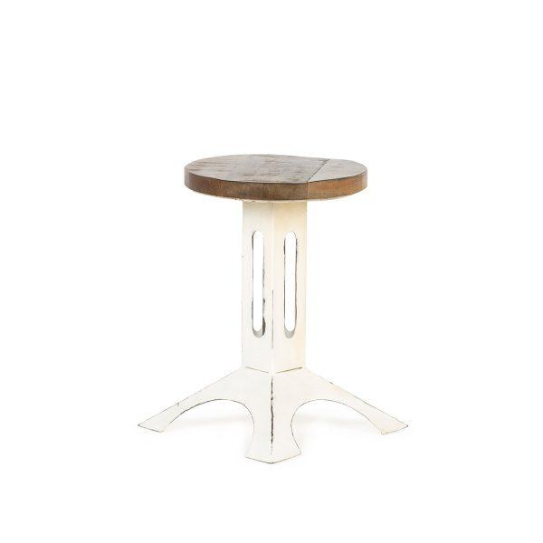 White low stools.