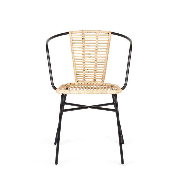 Cane and rattan chair.