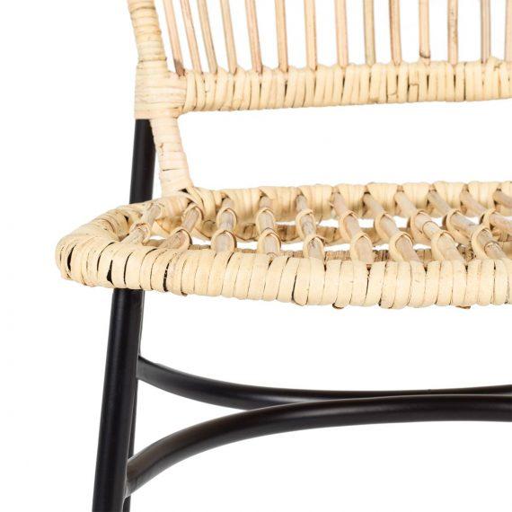 Imagen de detalle de las sillas para cafetería Jakarta.