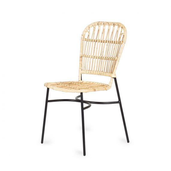Chaises pour cafétérias en cannage et rotin.
