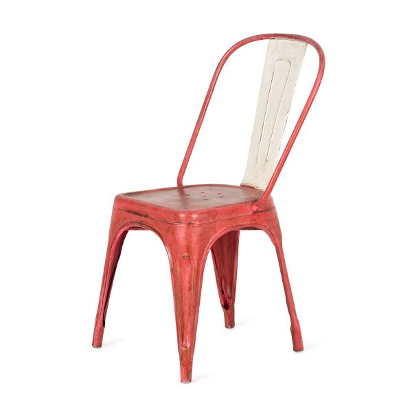 Design chairs. Dres in red color.