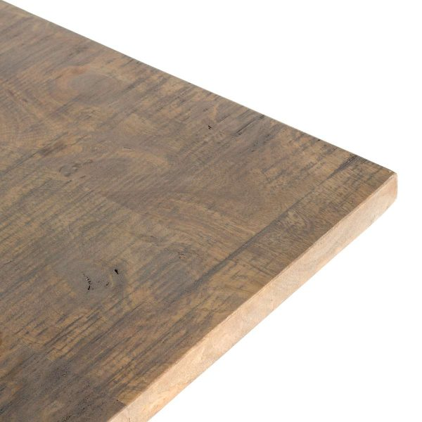 High tables, wooden board.