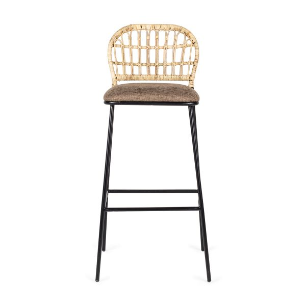 High padded stool.