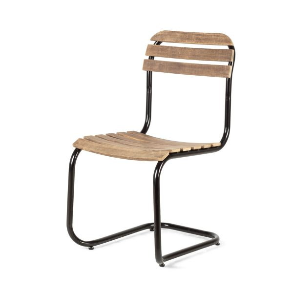 Industrial chairs for restaurants.