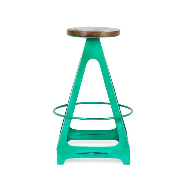 Industrial style high stools.