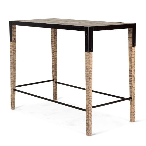 Mesa rectangular alta.