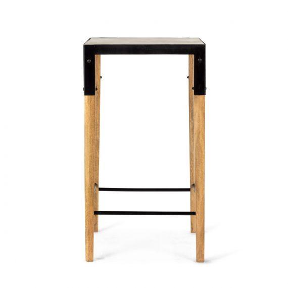 Mesas altas de diseño.