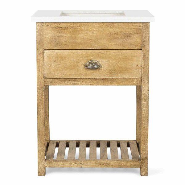 Mueble lavabo en madera.