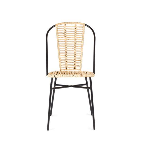 Natural rattan chair.