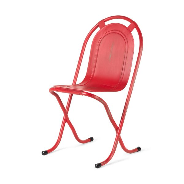 Retro metal hospitality chairs.