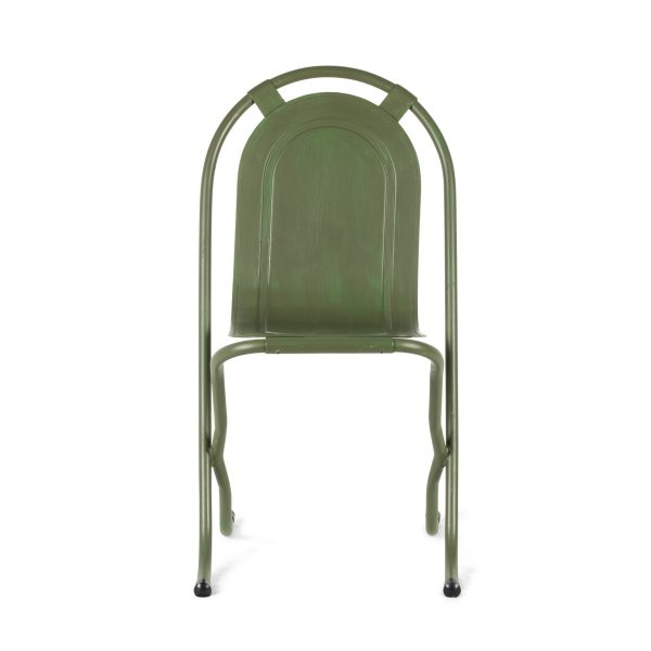 Retro metal chairs.