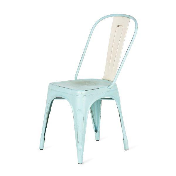 Chaises de design. Dres couleur bleue.