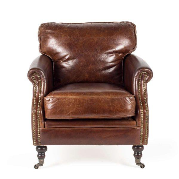 Vintage waiting room armchair.