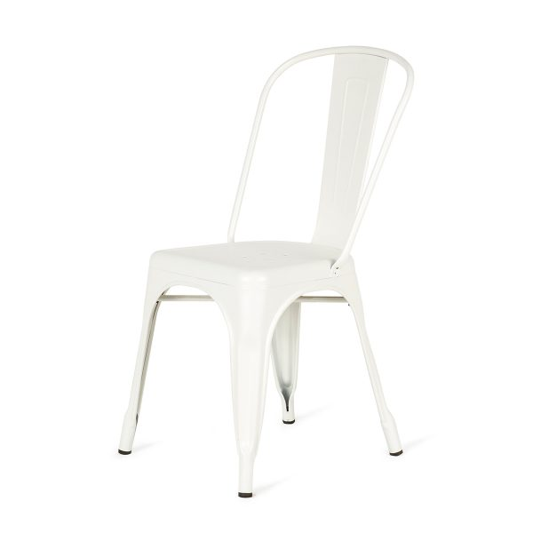 White chairs on sale.