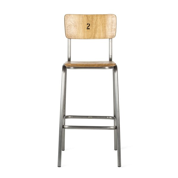 Stools to be used in bars, cafeterias and restaurants.