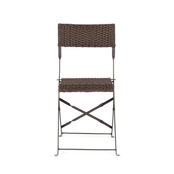 Folding chairs.