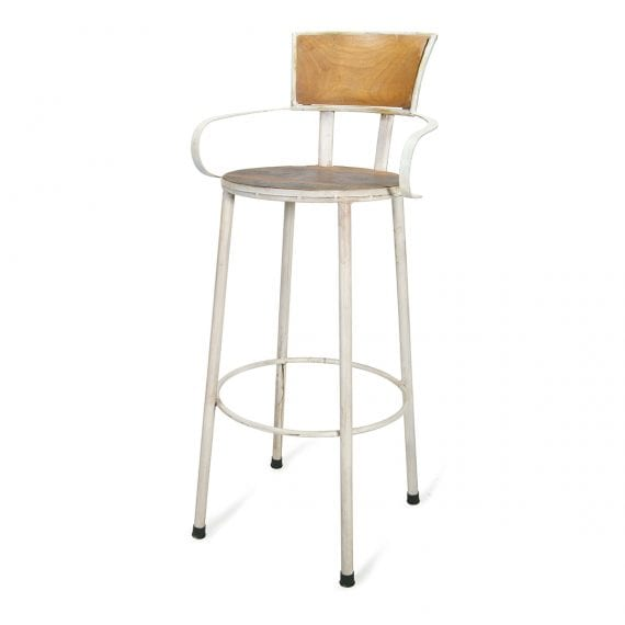 Industrial high stools model Isone white.