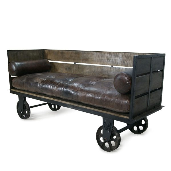 Industrial hospitality sofas.