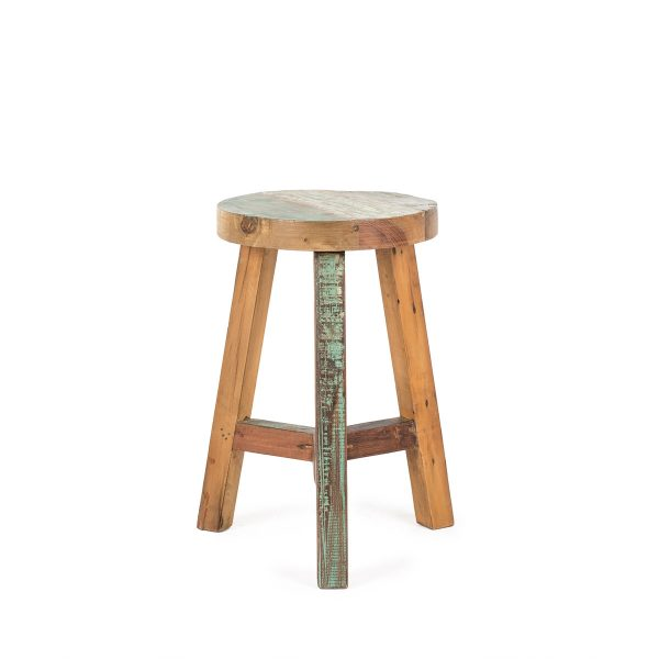 Low wood stools.
