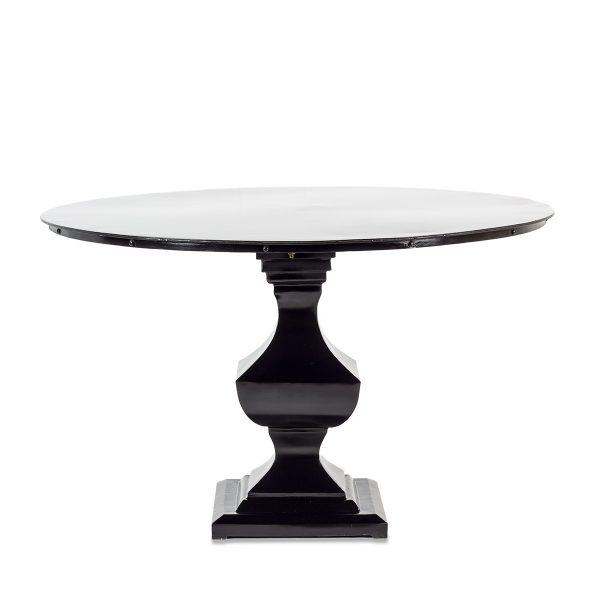 Mesa redonda negra.