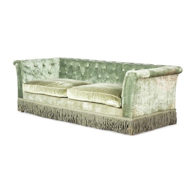 Original vintage style sofa Velvet.