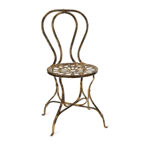 Forged iron restaurant chairs.