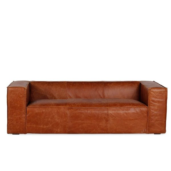 Leather sofas to be used in waiting rooms.